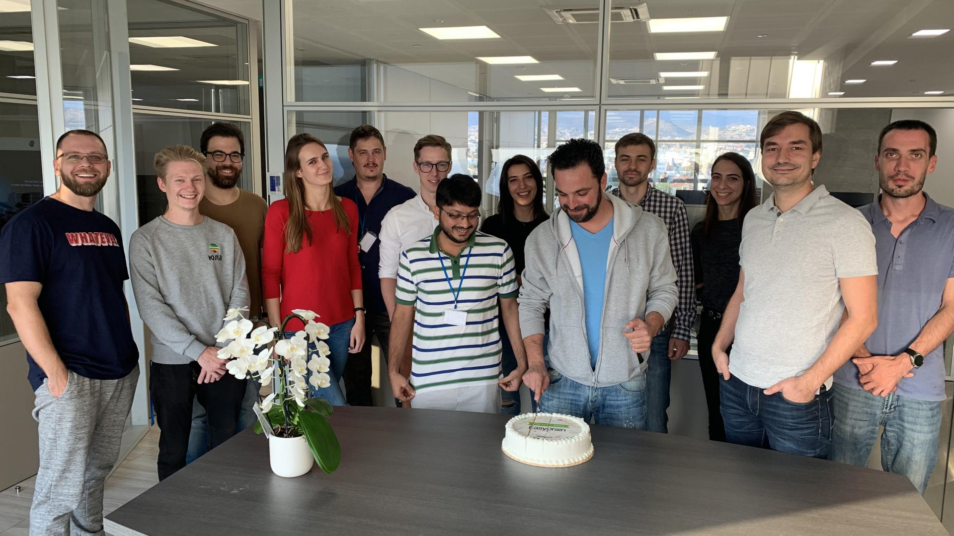 Milestone celebration of 100 employees in Easybrain Limassol office